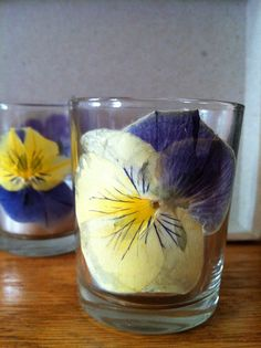 pressed flower wedding candle