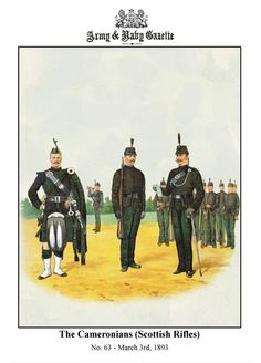 The Cameronians (Scottish Rifles) Army & Navy, Military Army, Military History, Military Uniforms, British Army Uniform, British Uniforms, Horse Drawn, British History, Military Fashion