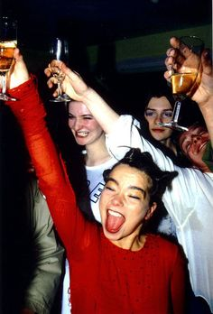 "Björk in ""Sign of the Times"" Covent Garden shop opening, 1994."