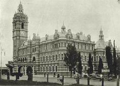 The Town Hall - see other similar photo taken in 1905 when the trees are larger - so this photo taken at an earlier date..