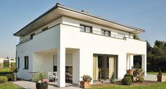 Massivhaus Bauunternehmen Immobilien Beispielhäuser Hausbau Schlüsselfertig Musterhaus Style At Home, Bauhaus, Garage Doors, Mansions, House Styles, Outdoor Decor, Home Decor, Patio, Building Companies