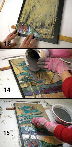 Raku Murals - We could make mini-murals. www.ceramicartsdaily.org/raku-on-the-walls-how-to-make-a-raku-mural