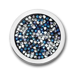 New ! Mi Moneda Coin Swarovski Deluxe Multi Medium Pacific Blue. BoumanOnline.com