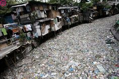 A polluted creek covered with trash in Manila, Philippines on 01 March 2009. The Department of Environment and Natural Resources reported in 2008 that the Philippines hosts 50 major polluted rivers, with a majority of pollutants coming from domestic waste. EPA/FRANCIS R. MALASIG