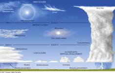 Common types of clouds.