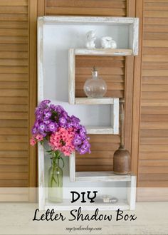 mycreativedays: DIY Letter Shadow Box