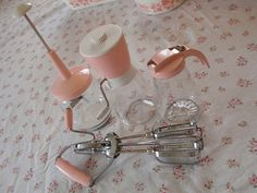 Vintage pink kitchen items by eg2006, via Flickr