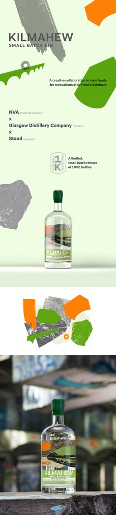 Kilmahew Gin  NVA x Glasgow Distillery Co. x Stand  #packaging #design #gin #ourworkmatters