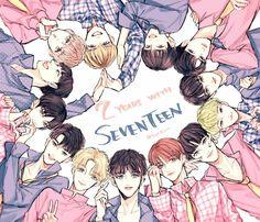 SEVENTEEN fanart Jeonghan, Woozi, Wonwoo, Nct, Kpop Anime, Seventeen Wallpapers, Bts Aesthetic Pictures, K Pop Star, Fan Art