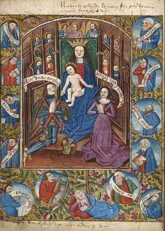 Book of Hours Leaf 15th Century Sacra conversatione