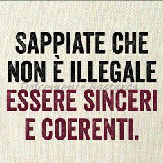 #sincerità #coerenza