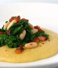 My Daily Morsel   Polenta with White Beans and Spicy Mustard Greens   http://www.mydailymorsel.com