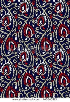 Find Seamless Floral Pattern stock images in HD and millions of other royalty-free stock photos, illustrations and vectors in the Shutterstock collection. Thousands of new, high-quality pictures added every day. Textile Pattern Design, Surface Pattern Design, Textile Patterns, Textile Prints, Embroidery Neck Designs, Background Vintage, Colorful Drawings, Flower Art, Vectors