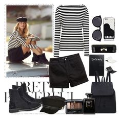 """""""Untitled #945"""" by misaflowers ❤ liked on Polyvore featuring UGG, Armani Jeans, H&M, River Island, Guerlain, Yves Saint Laurent, Ted Baker and Kate Spade"""