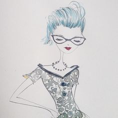 Saturday morning sketch #watercolor #fashion #eyewear