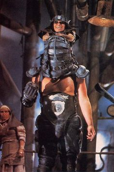 Angelo Rossitto and Paul Larsson as the Master and the Blaster in Mad Max Beyond Thunderdome.