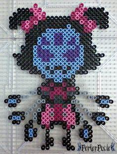 Muffet - Undertale perler beads by PerlerPixie Pony Bead Patterns, Perler Patterns, Beading Patterns, Pearler Beads, Fuse Beads, Pixel Art, 8 Bits, Hama Beads Design, Iron Beads