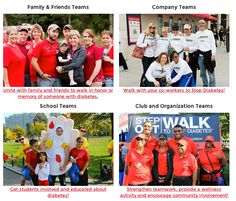 Team up to #StopDiabetes! Form a team for Step Out: Walk to Stop Diabetes with your family, friends or coworkers. No matter what kind of team you walk with, one thing is certain . . . you will never walk alone. Register today!