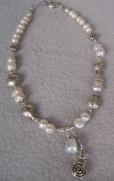 perle naturali, argento 925 - Marina Caproni