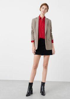 Flowy shirt + blazer | MANGO