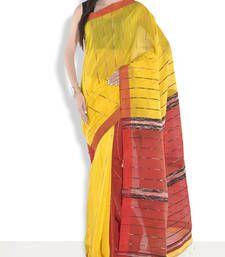 Buy Red hand_woven handloom saree with blouse handloom-saree online