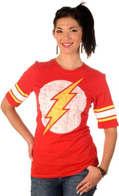 Jersey Style The Flash Shirt (O says only boys can wear Flash shirts because girls don't have Flash shirts in their closet)