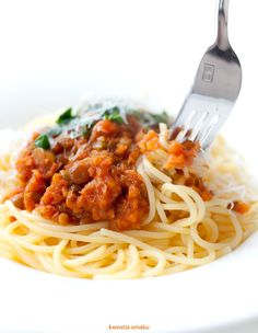 Wegetariańskie spaghetti bolognese