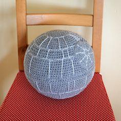 """That's no moon."" Free Death Star crochet pattern"