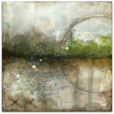 Landscapes of intention 1 - © 2015 Laly Mille, mixed media painting on deep-edge canvas