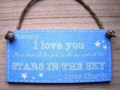 PERSONALISED shabby chic choose text plaque gift 6x3  plaque mothers day grandma