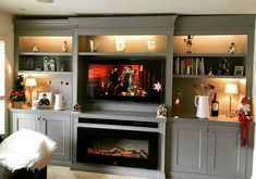 Bespoke TV unit with Intergrated electric fire Electric Fires, Tv Unit, Bespoke, Cabinets, Flat Screen, Furniture, Home Decor, Resurfacing Cabinets, Blood Plasma