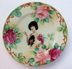 Patti Smith Altered Antique Plate by Beat Up Creations.