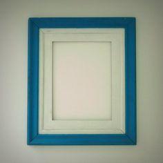 Moldura Antiga - Branco & Azul R$15
