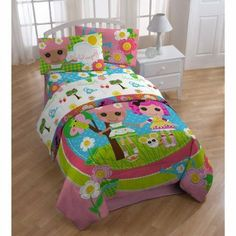 LALALOOPSY TWIN BEDDING SET, 4PC Set, Comforter, 3pc Sheet Set, NEW, Girl by Dream Time Kids Bedding. $83.95