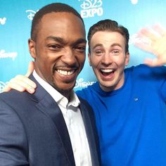 CHRIS EVANS and ANTHONY MACKIE at the event! #CivilWar
