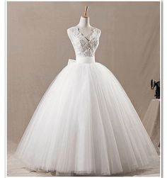 LOVE. ~ cheap wedding dresses Ball Gown Lace Bowknot by Charmbride on Etsy
