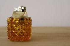Fenton Amber Hobnail Table Lighter