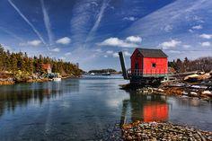 Marina shack Stonehurt, Nova Scotia