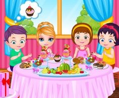 Baby Barbie Birthday Party, http://www.mybabybarbiegames.com/game/baby-barbie-birthday-party. You're invited to baby Barbie's birthday party! There are lots of things to be taken care of before the fun begins