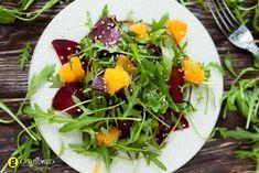 Σαλάτα με ρόκα πατζάρι πορτοκάλι και ντρέσινγκ εσπεριδοειδών - gourmed.gr