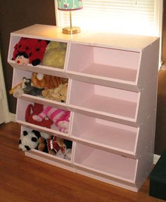 Good for toys but also for yarn and fabric. Better than plastic stackables. But I would have to get someone to make this for me.