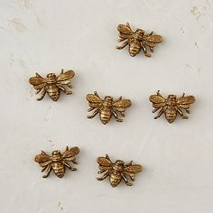 A coat of shimmering gold paint tops these sweet honeybee magnets in cast pewter.- Set of Pewter- I Love Bees, Bee Art, Bee Happy, Save The Bees, Bees Knees, Gold Paint, Queen Bees, Bee Keeping, Mellow Yellow