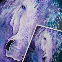 Increase your art sales with fine art prints.  This is an original painting by @art_by_jano (left) with a fine art print.  Let us help you increase your sales with artwork captures & printing! #artworkcapture #art #artwork #painting #horse #fineartprint #giclee #gicleeprinting #archival