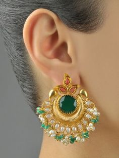 Sterling Silver Jewelry – Why is it Silver? Amrapali Jewellery, Gold Jhumka Earrings, Indian Jewelry Earrings, Jewelry Design Earrings, Gold Earrings Designs, Gold Jewellery Design, Ear Jewelry, Small Earrings, Designer Earrings