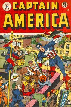 Captain America Comics # 58 by Alex Schomburg