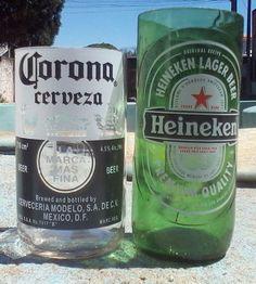 Corona e Heineken de 600ml.