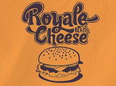 Trendy Pop Culture Pulp Fiction Royale with Cheese tee t-shirt tshirt Toddler Youth Adult Unisex Ladies Female Orange - Animetee - 2