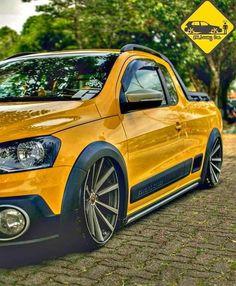 Saveiro Custom Trucks, Custom Cars, Vw Pointer, Caddy Van, Chevrolet Captiva, Suv Trucks, Volkswagen Polo, Air Ride, Vw Cars