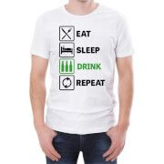 #Beershield Eat Sleep Drink Repeat Mens T-Shirt - L - White #This light hearted T-shirt is the perfect gift for any beer fan. Crafted from 100% soft Cotton this regular fit T-Shirt has a stylised beer themed print on the front, a crew neck and short sleeves. Perfect for any dedicated hop fan! T-Shirts are 100% Cotton Ethically Sourced Slim fit - if that™s not your thing, order a size up