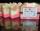 Homemade Soap, Handcrafted, Cold Process Soap, Sweet Pea Scented